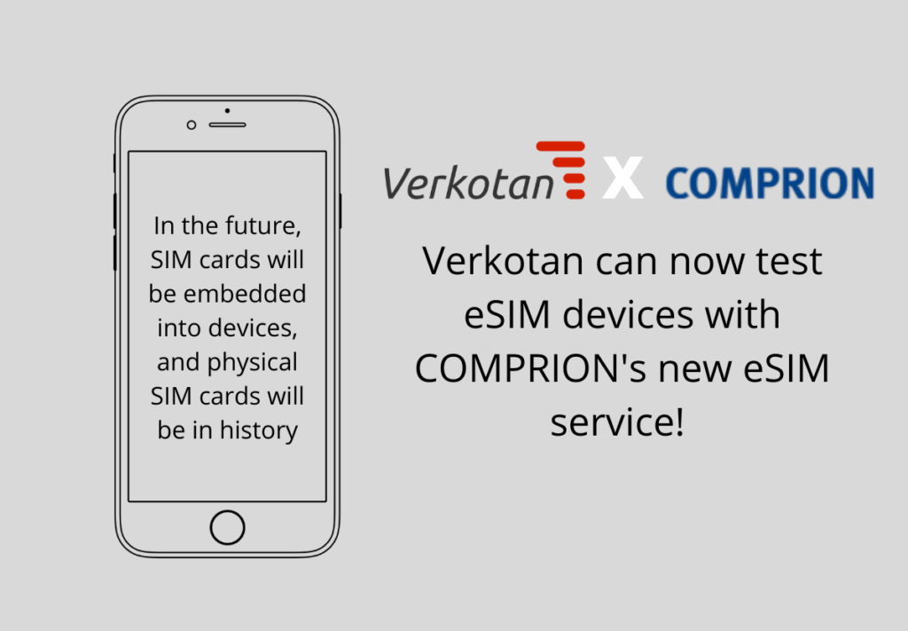Verkotan can now test eSIM devices with COMPRION's solution!